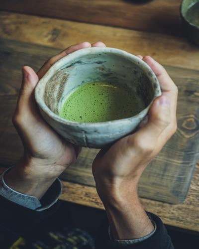 Traditionele japanse matcha thee