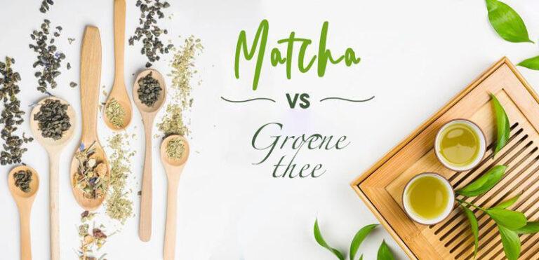 matcha vs groene thee